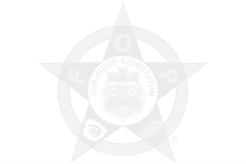Fraternal Order of Police logo in gray
